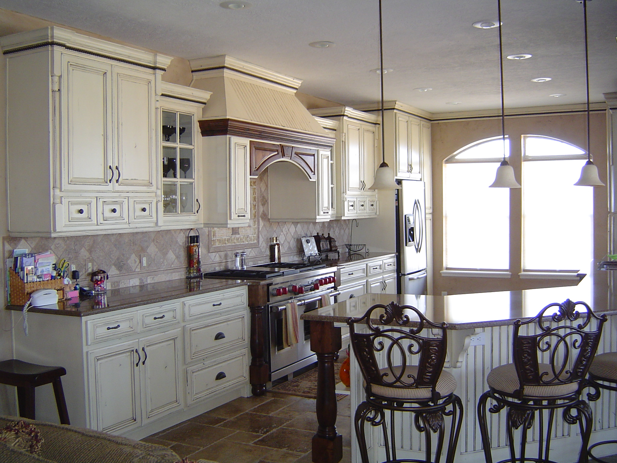 Home H Remodel White Wash French Country Cabinetry