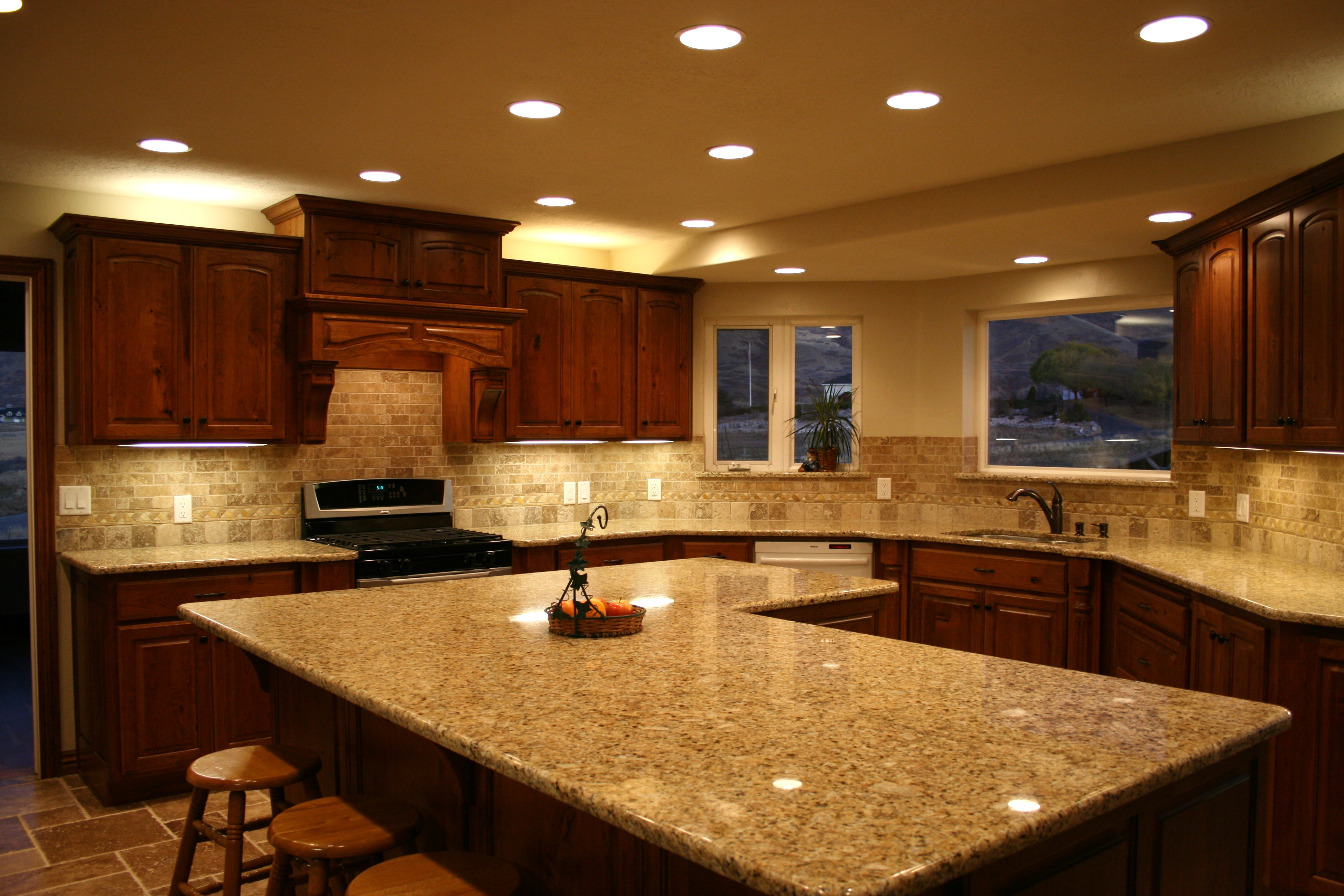 home d kitchen remodel cherry cabinetry granite countertop